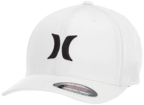 Hurley One & Only Men's Hat, White/Black, S-M (White Hurley Hat)