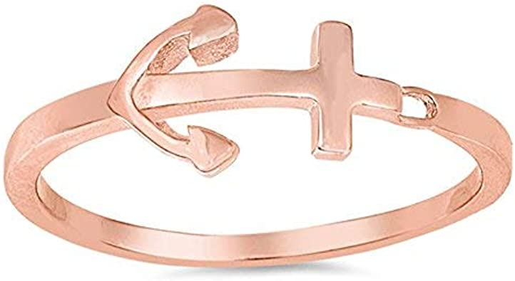 Boma Jewelry Sterling Silver Horizontal Anchor Ring