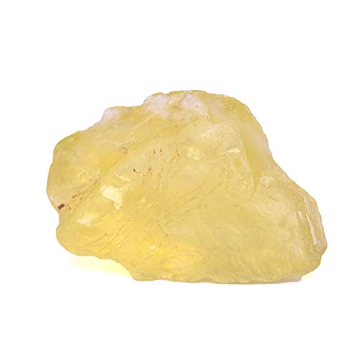 REAL-GEMS Uncut Topaz Rough Gemstone 159.00 Ct Healing Crystal Gem Lemon Topaz Stone for Home Decor
