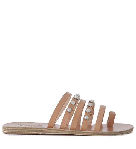 Sandalia Ancient Greek Sandals Niki en piel Beige