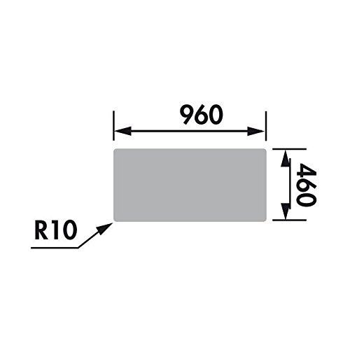 EWI Evier Soledad 100x50cm 1 grand bac 1 /égouttoir b/éton