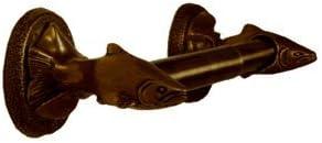 Functional Fine Art Trout Decorative Toilet Accessories Tissue Holder Dispenser Oil Rubbed Bronze Finish