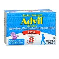 Advil Advil Chewable Tablets Junior Strength 100 Mg Grape, Grape 24 tabs 100 mg(Pack of 3)