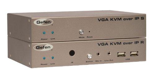 - Gefen VGA KVM over IP - Sender / Receiver Set (EXT-VGAKVM-LAN)