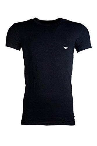 285b753ed Emporio Armani stretch Cotton Intimates Basic Crew Neck T Shirt in Black  (Large)