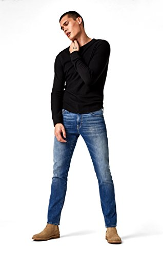 Mavi Men's Jake Regular-Rise Tapered Slim Fit Jeans, Mid Foggy Williamsburg 38 X 32