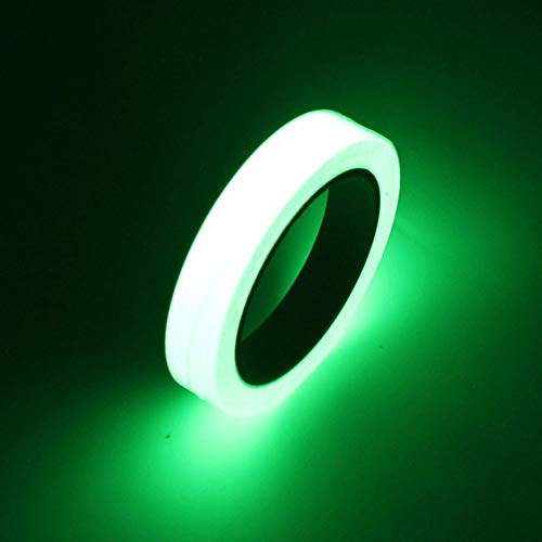 Glow Tape, Buery 32.8 ft x 0.8 inch Waterproof Luminous Tape Glow in The Dark Fluorescent Tape Removable Photo Luminescent Tape Sticker for Stairs Stage Indoor Party, Outdoor -