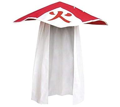 DAZCOS Anime Hokage Kakashi Hatake 6th Sixth Cosplay Hat Ninja Accessory Red