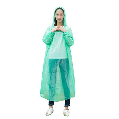 ZANFUN Emergency Rain Ponchos for Adults Hooded Raincoat Unisex Portable for Hiking Camping Outdoors School Sporting