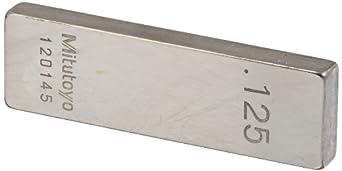 Mitutoyo Steel Rectangular Gage Block, ASME Grade 0, Inch