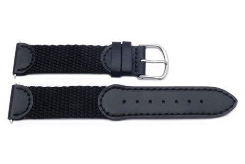 Victorinox Swiss Army Brand 19mm-Nylon/Leather-Black by Victorinox