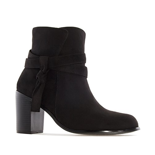 Andres Machado AM4090.Laced Ankle Boots In Suede.Womens Petite&Large Szs:US 2 To 5 -US 11.5 To 13/EU 32 To 35 -EU 43 To 45 Black Suede dHUCxlJR