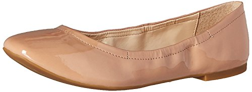Nine West Women's Girlsnite Synthetic Ballet Flat, Natural, 37 EU/5 UK