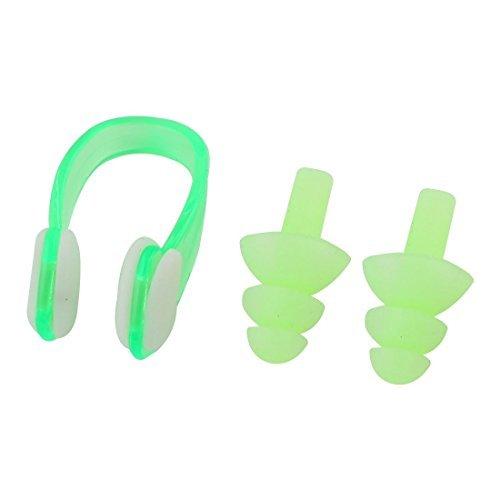 Amazon.com : eDealMax Los tapones de plástico de silicona Verde Set Clip de la nariz Para Nadar Nadar : Sports & Outdoors