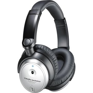 Audio-Technica ATH-ANC7b QuietPoint Active Noise-cancelling Headphones - Stereo - Silver - Mini-phone - Wired - 300 Ohm - 10 Hz - 25 kHz - Gold Plated - Over-the-head - Binaural - Circumaural - ATH-ANC7B-SVIS