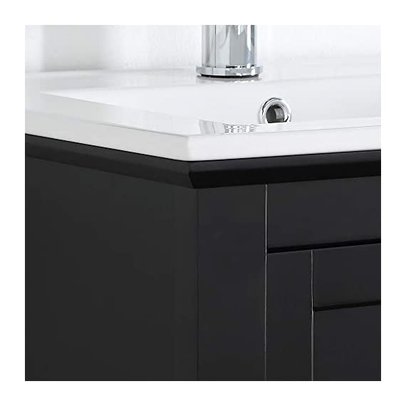"Fresca Manchester 24"" Gray Traditional Bathroom Vanity - Dimensions of Vanity: 23.5""W x 18""D x 34""H Vanity Materials: Solid Wood Frame with MDF Panels Countertop/Sink Materials: Integrated Ceramic Sink - bathroom-vanities, bathroom-fixtures-hardware, bathroom - 313qSA8jFJL. SS570  -"