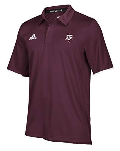 adidas Texas A&M Aggies NCAA 2018 Sideline Team Iconic Polo Shirt - Maroon (Sideline Shirt Adidas Polo)