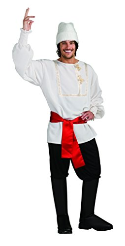 Rubie's Men's White Russian Costume, As Shown, Standard -
