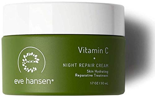 Eve Hansen Dermatologist Tested Vitamin C Face Cream | Premium Hypoallergenic Moisturizer | Fragrance Free Anti-Aging Night Cream for Dark Circles, Fine Lines, and Acne Scars | 1.7 oz