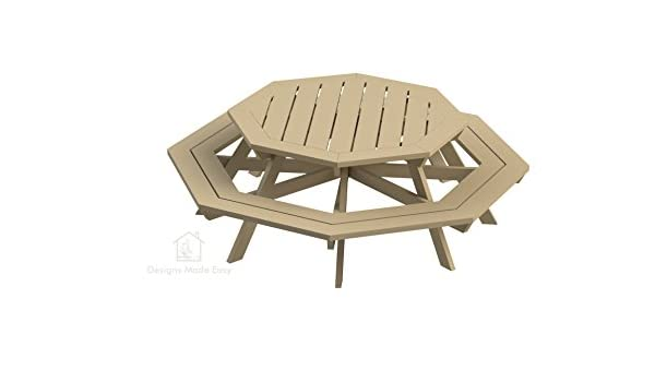 Easy DIY Octagon Picnic Table - Design Plans Instructionsfor ...