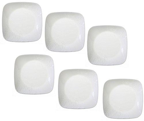 """Corelle Boutique Cherish 6.5"""" Square Bread or Dessert Plate (Set of 6)"""