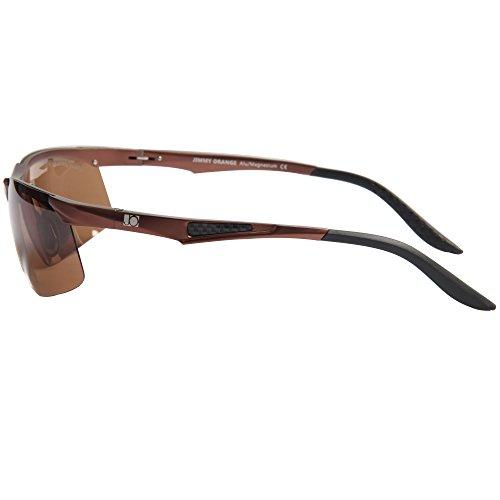 Conducción Hombres Sol negros Alta Jimmy al Aluminio Calidad Gafas Magnesio Aire JO671 Gafas de Mujeres deSol marco Ciclismo lentes de de Polarizado Libre marrón Orange w0qv7