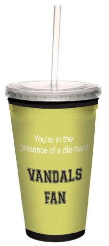 Tree-Free Greetings cc34455 Vandals College Football Fan Artful Traveler Double-Walled Cool Cup with Reusable Straw, 16-Ounce