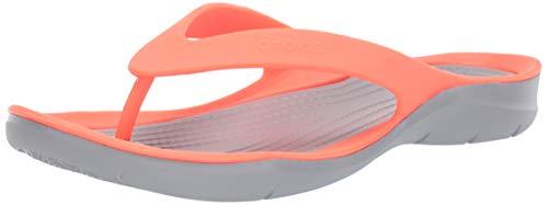 - Crocs Women's Swiftwater Flip Flop, Bright Coral/Light Grey 11 M US