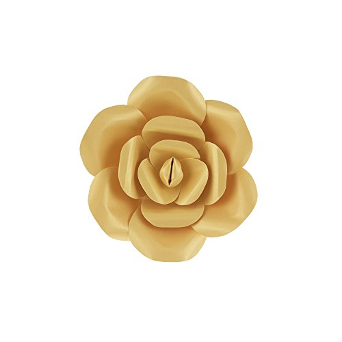 Mega Crafts 8'' Handmade Paper Flower in Gold | for Home Décor, Wedding Bouquets & Receptions, Event Flower Planning, Table Centerpieces, Backdrop Wall Decoration, Garlands & - Paper Mache Gold