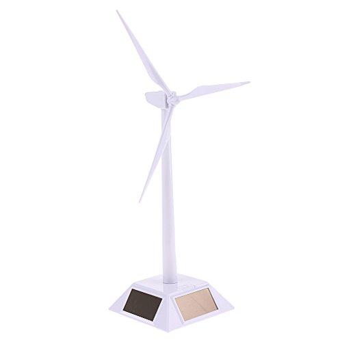 Homyl Juguete Modelo Molino de Energía Solar Adorno para Escritorio
