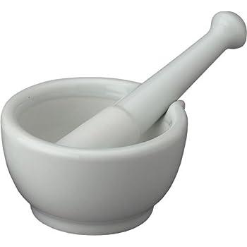 HIC Mortar and Pestle with Pour Spout, Large, Porcelain