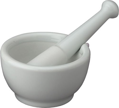 HIC Mortar and Pestle with Pour Spout, Large, Porcelain