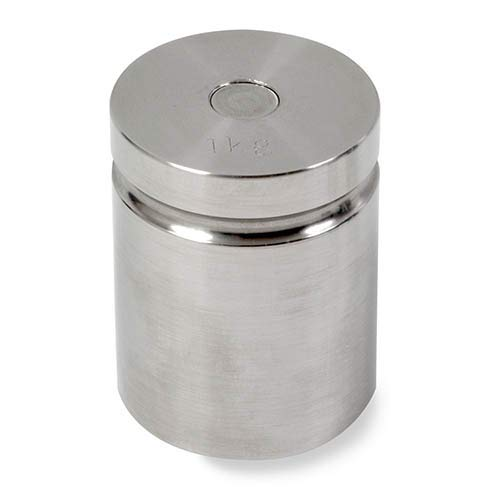 OHAUS 1310 1000 g Class F Test Weight with No Certificate, Cylindrical with Groove by Ohaus
