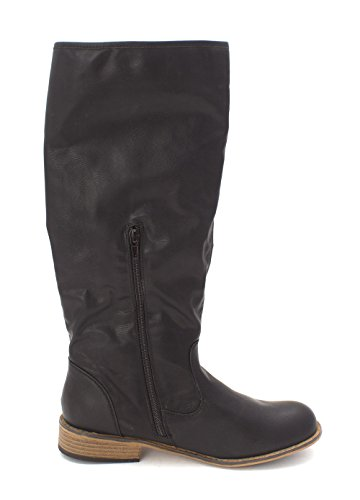 JustFab Just Fab Womens Autumn Closed Toe Knee High Fashion Boots Black wNcAl