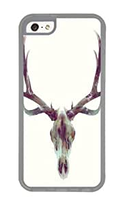 Apple Iphone 5C Case,WENJORS Cute Elk Skull Soft Case Protective Shell Cell Phone Cover For Apple Iphone 5C - TPU Transparent