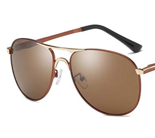 protección de Gafas pesca Brown aire color de los de Gafas de hombres sol la Light polarizadas para sol al viajar retro hombres libre claro los conducir para UV400 de marrón de zzAETxwq