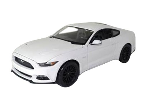 maisto-2015-ford-mustang-gt-50-1-18-scale-diecast-model-car-white