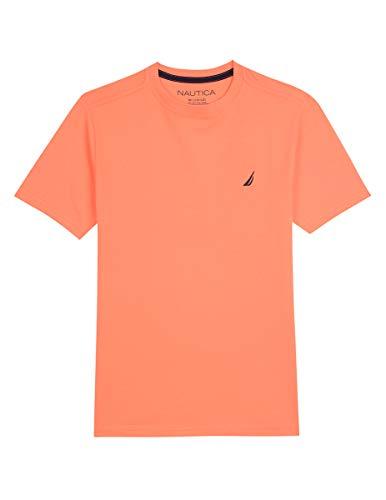 Nautica Little Boys' Short Sleeve Solid Crew-Neck T-Shirt, Coast Hibiscus Medium (5)