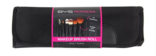 BYS Makeup Brush Roll Up Case, Holds 7 Brushes