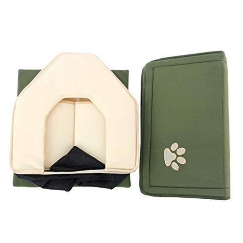 HOT!! Dog Bed Cama para Cachorro Soft Dog House Blanket Option Pet Cat Dog Home Shape 2 Colors Red/Green Puppy Kennel Soft,Green,M