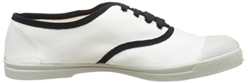 Bensimon Tennis Lacet Gros Grain - Botas Mujer Blanc (Blanc)