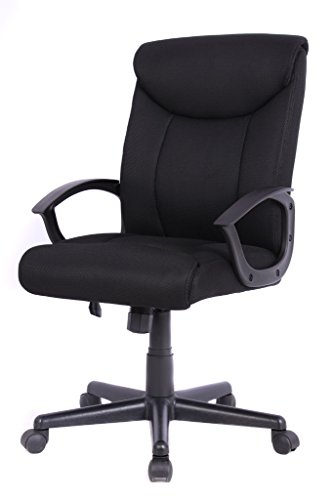 (Bonum Home Office Chair, Mesh Chair Ergonomic Desk Computer Chair Swivel Home Chair- Black)