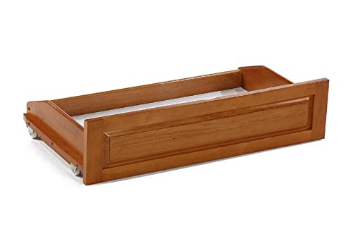 Universal Futon Storage Drawer Full Lounger Size (1 pc) Medium Oak by Prestige Furnishings