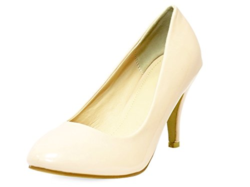 Ktc Women's Mid Heel Court Shoes Nude