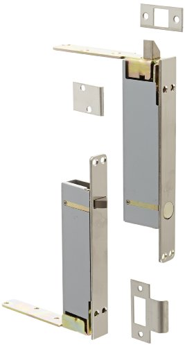 (Rockwood 2945.32D Stainless Steel Combination Flush Bolt Set for Wood or Plastic Covered Composite Type Fire Doors, 1