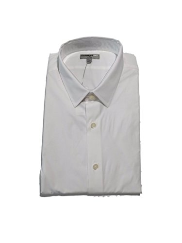 Express Men's Fitted Buttondown Shirt (M, White)