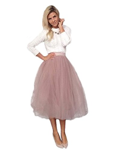 Length Layered Tulle A-line Party Prom Skirt Tulle Skirt Cameo (Tulle Skirt Halloween)