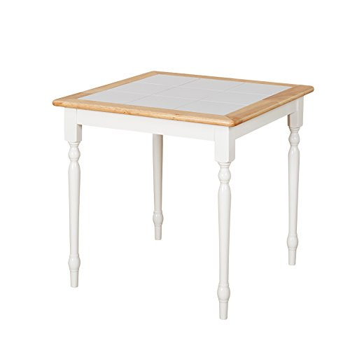 Tile Breakfast Table Top - Target Marketing Systems 20330WHT Tile Top Dining Table