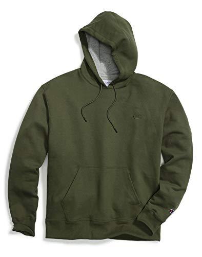 Green Kangaroo Hoody Sweatshirt - Champion Men's Powerblend Pullover Hoodie, Hiker Green, Large