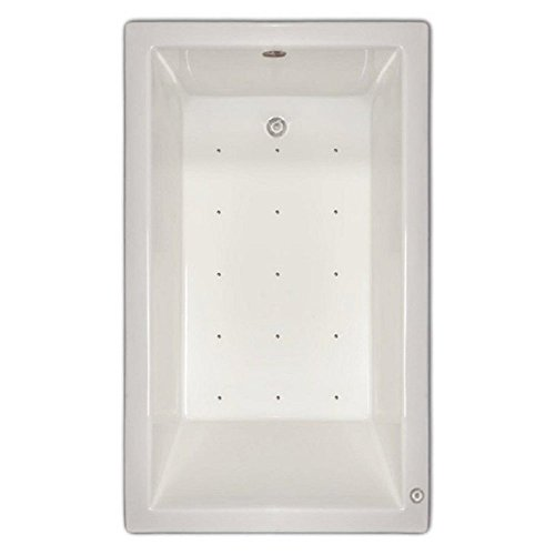 Signature Bath LPI18-A-RD Drop-In Air Injection Bathtub with Stainless Jets - Right Drain, White